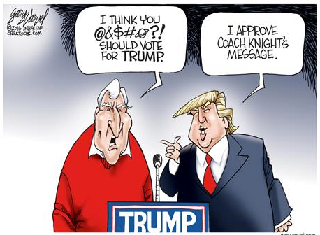 BOBBY KNIGHT TRUMP