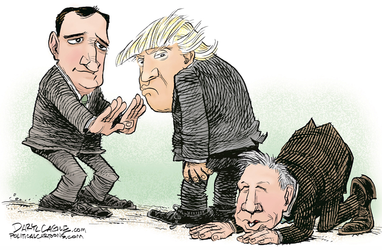 CRUZ AND KASICH ROLL TRUMP