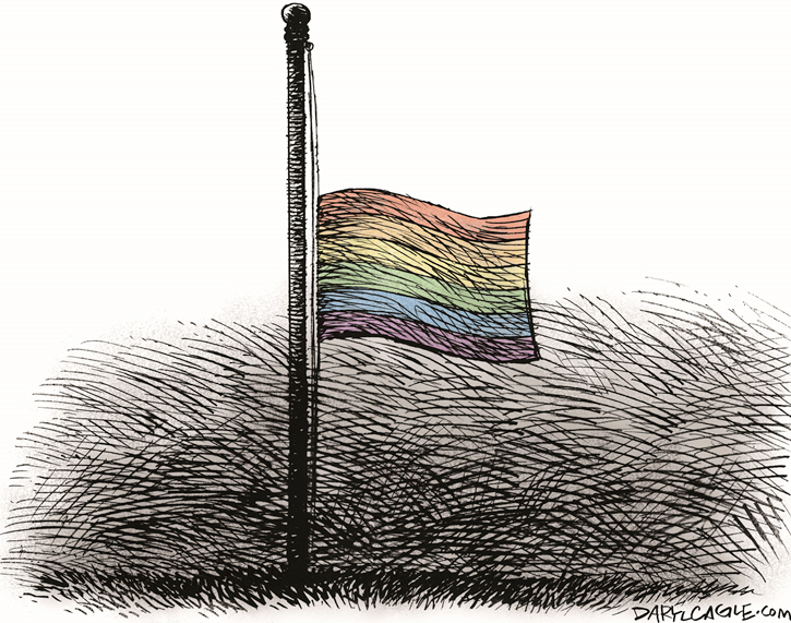 ORLANDO LGBT FLAG