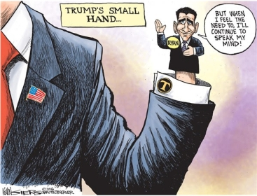 TRUMPS SMALL HAND RYAN