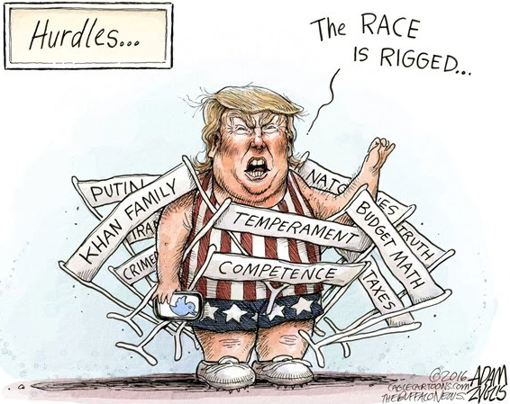TRUMP RACE IS RIGGED HURDLES