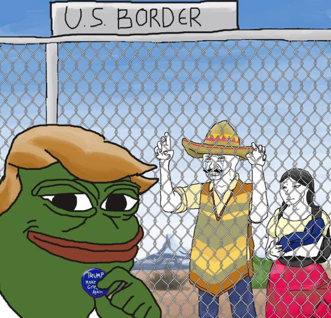 trump-racist-frog-at-fence