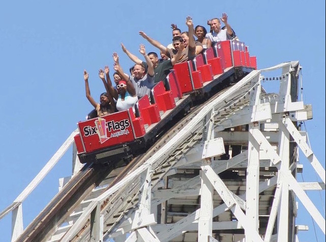 six-flags-roller-coaster